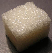 White color - light diffraction in crystals