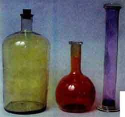 Simple substances. Nonmetals: the Halogens chlorine, bromine and iodine in glass vessels