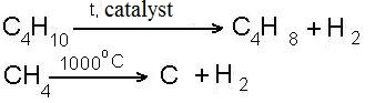 Saturated hydrocarbon. Reaction to the cleavage of hydrogen