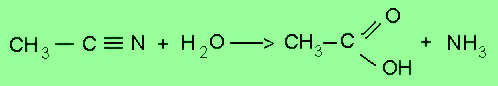 the hydrolysis of nitriles