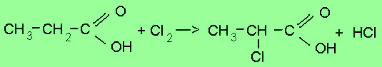 reactions with carboxylic acids