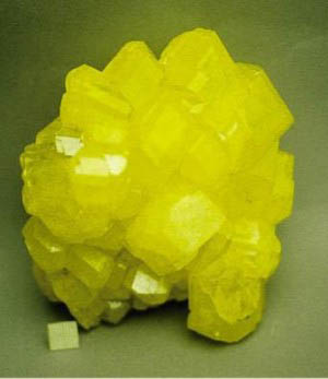 Simple substances. Nonmetals: sulfur crystal